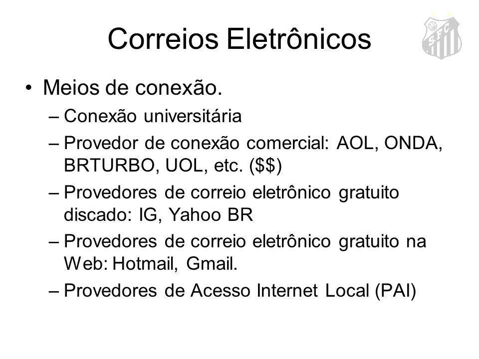 Correios Eletrônicos Meios de conexão. Conexão universitária