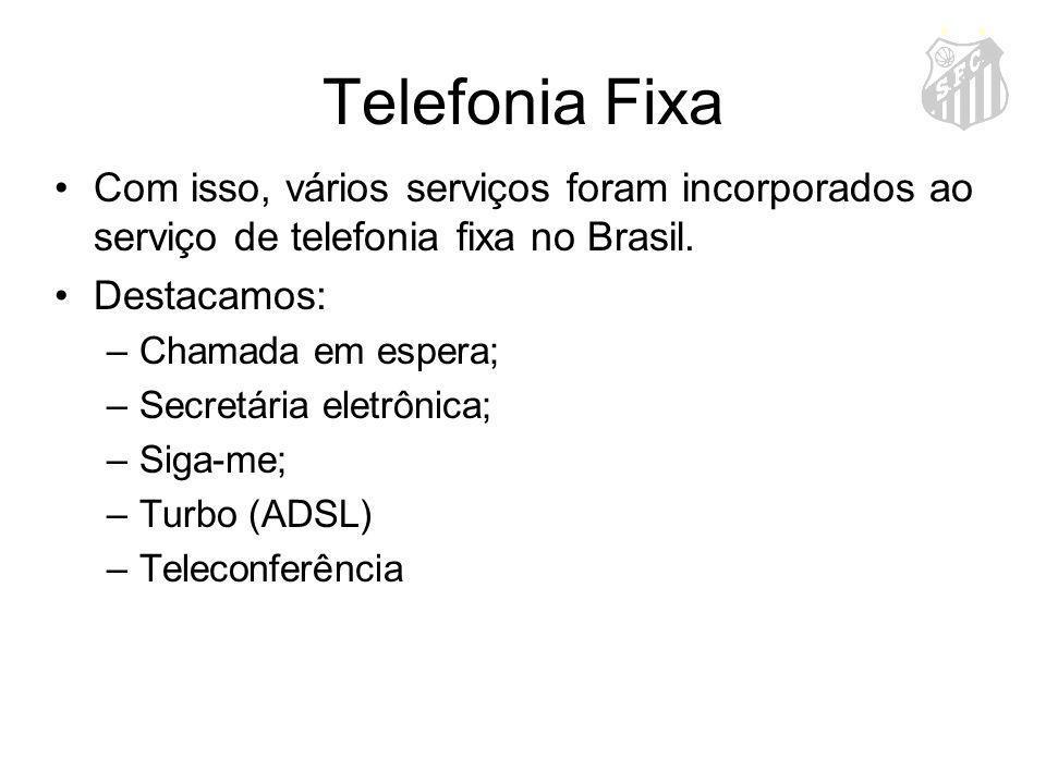 Telefonia Fixa Com isso, vários serviços foram incorporados ao serviço de telefonia fixa no Brasil.