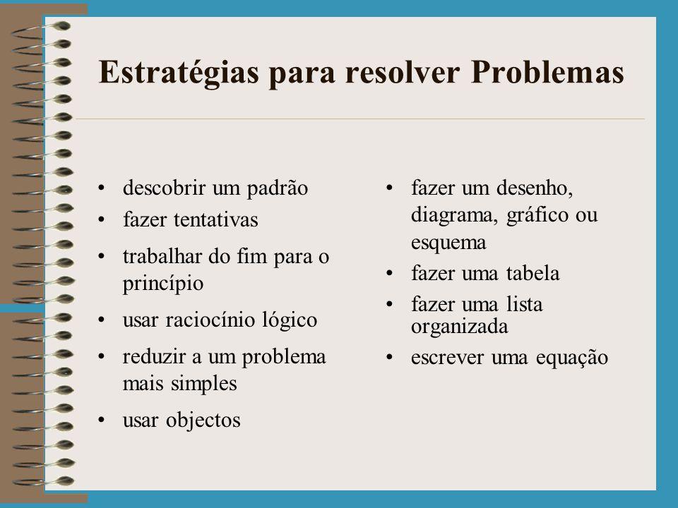 Estratégias para resolver Problemas