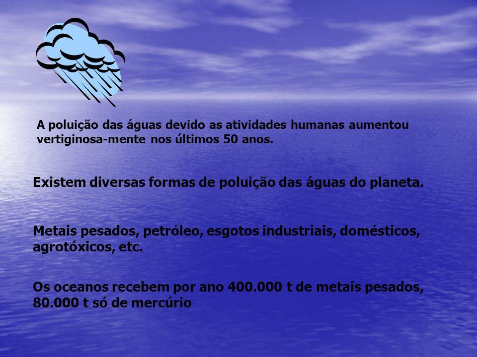 Existem diversas formas de poluição das águas do planeta.