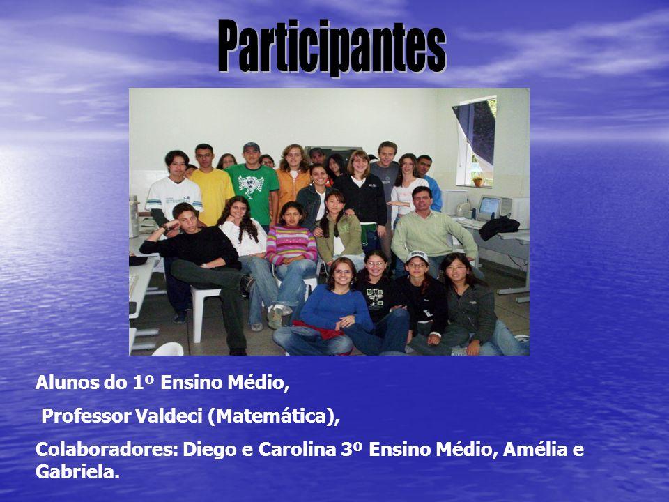 Participantes Alunos do 1º Ensino Médio,
