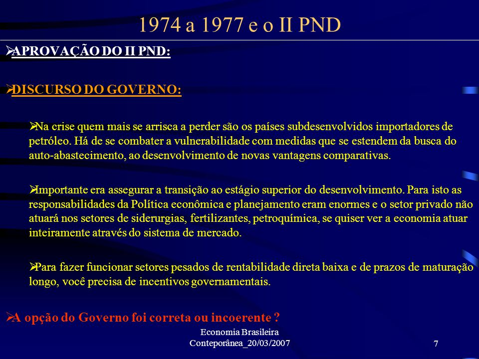 Economia Brasileira Conteporânea_20/03/2007