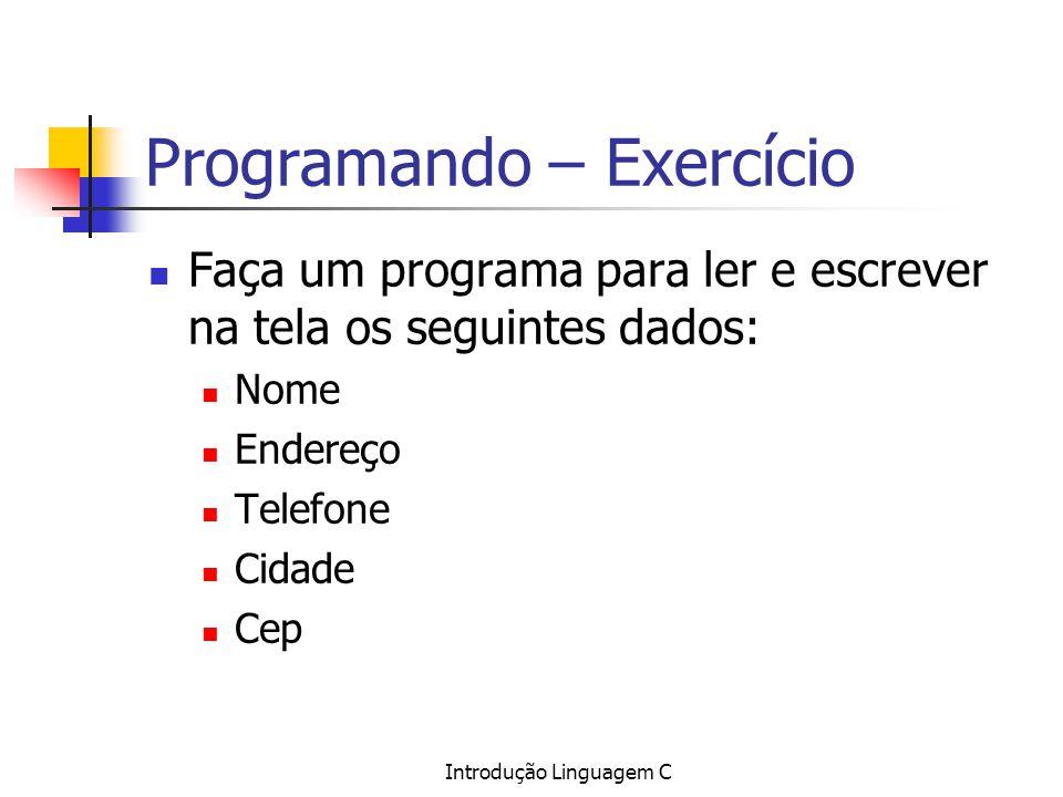 Programando – Exercício