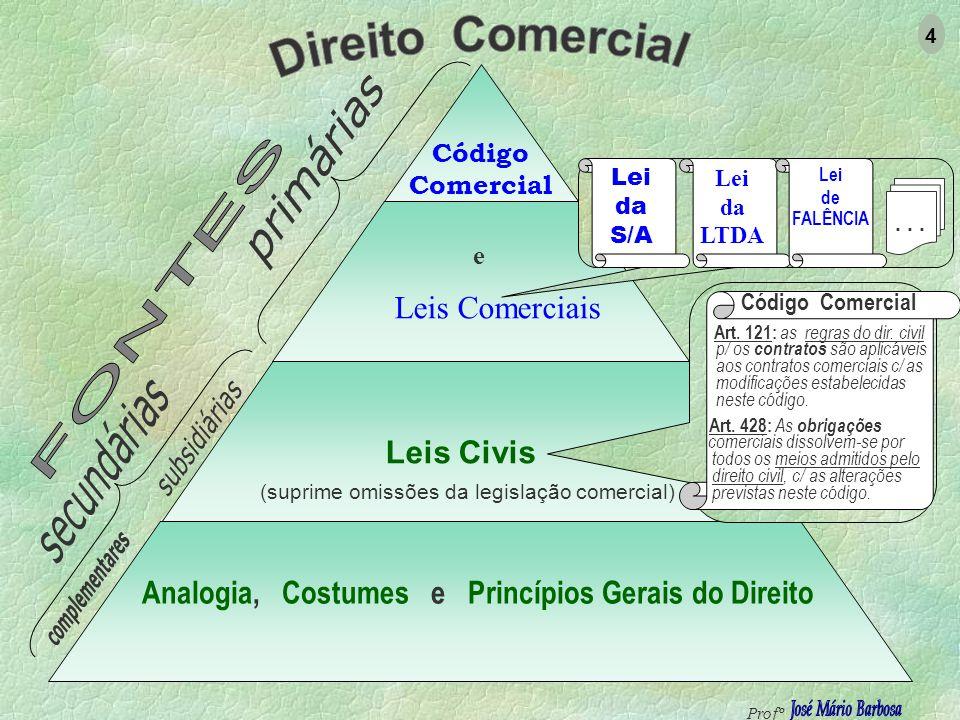 Analogia, Costumes e Princípios Gerais do Direito