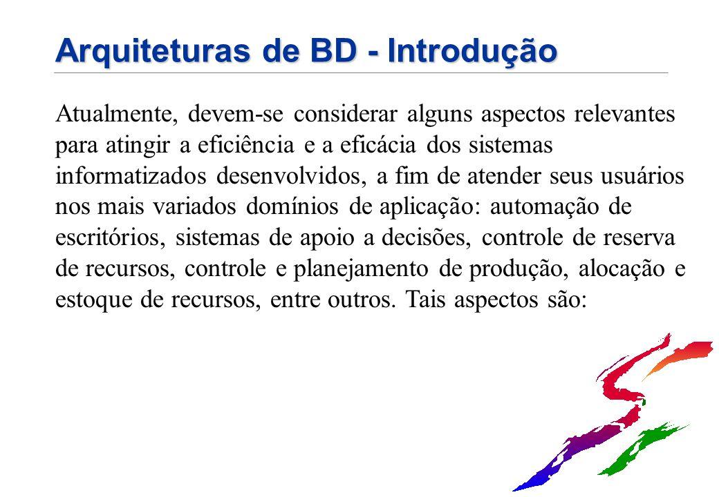 Arquiteturas de BD - Introdução