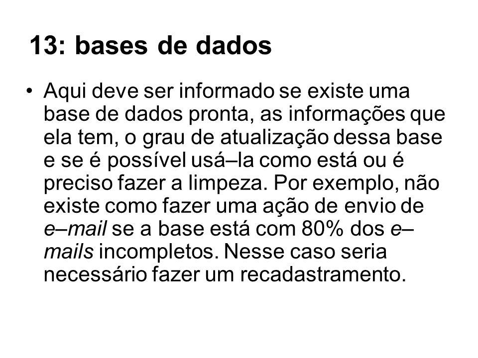 13: bases de dados