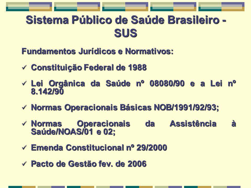 Sistema Público de Saúde Brasileiro - SUS