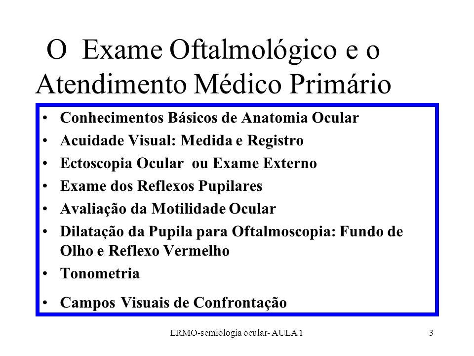 O Exame Oftalmológico e o Atendimento Médico Primário