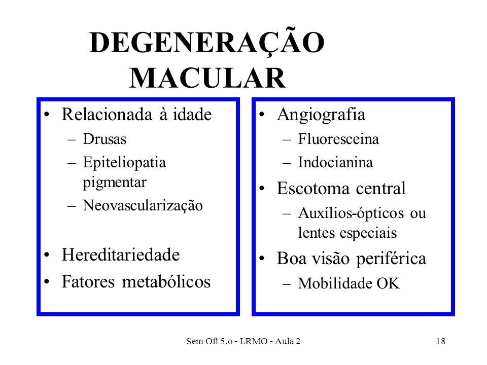 DEGENERAÇÃO MACULAR Relacionada à idade Hereditariedade