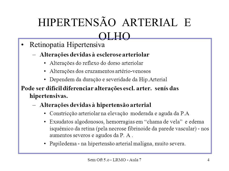 HIPERTENSÃO ARTERIAL E OLHO
