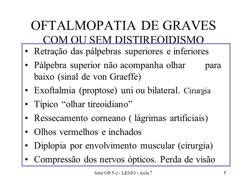 OFTALMOPATIA DE GRAVES COM OU SEM DISTIREOIDISMO