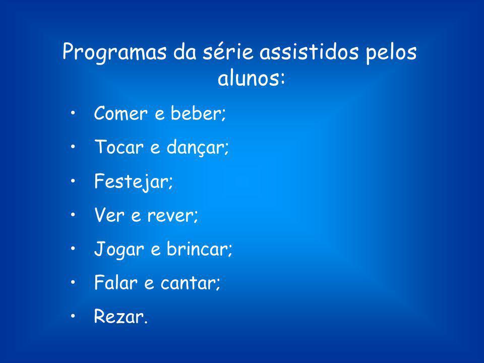 Programas da série assistidos pelos alunos: