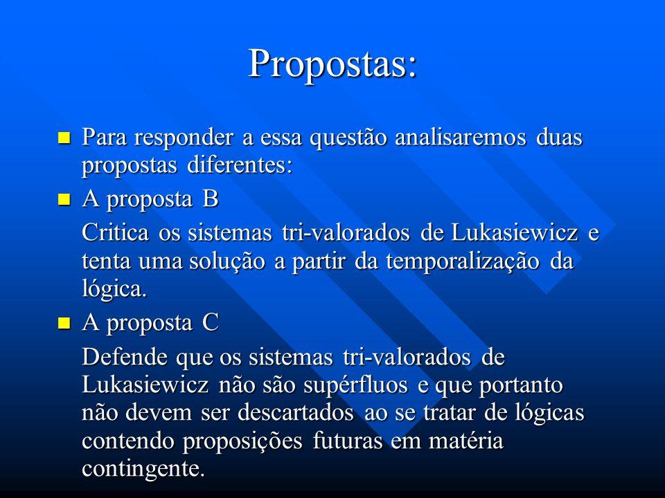 Propostas: Para responder a essa questão analisaremos duas propostas diferentes: A proposta B.