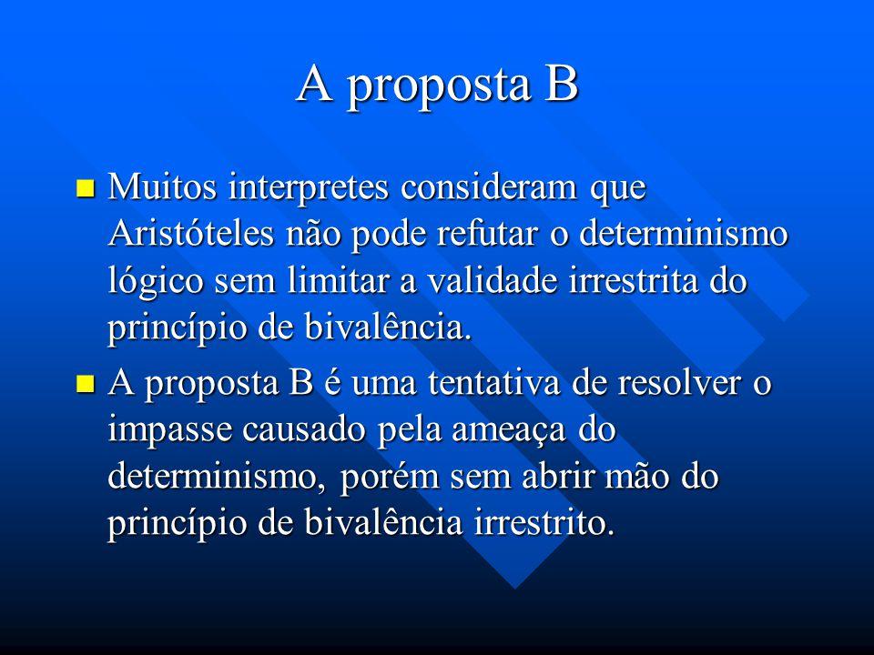 A proposta B
