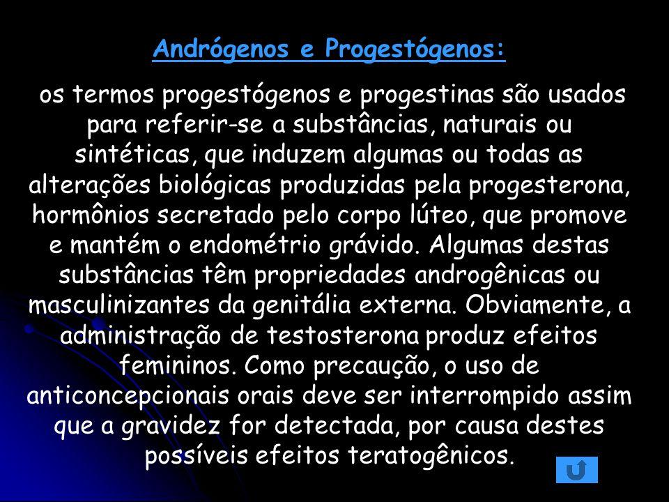 Andrógenos e Progestógenos: