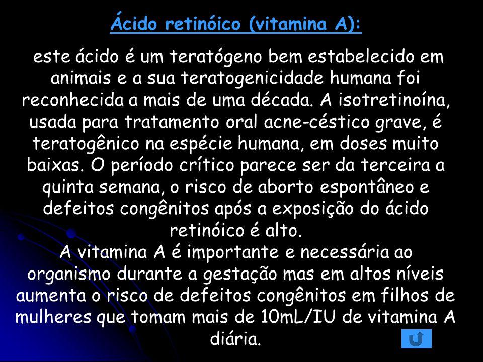 Ácido retinóico (vitamina A):
