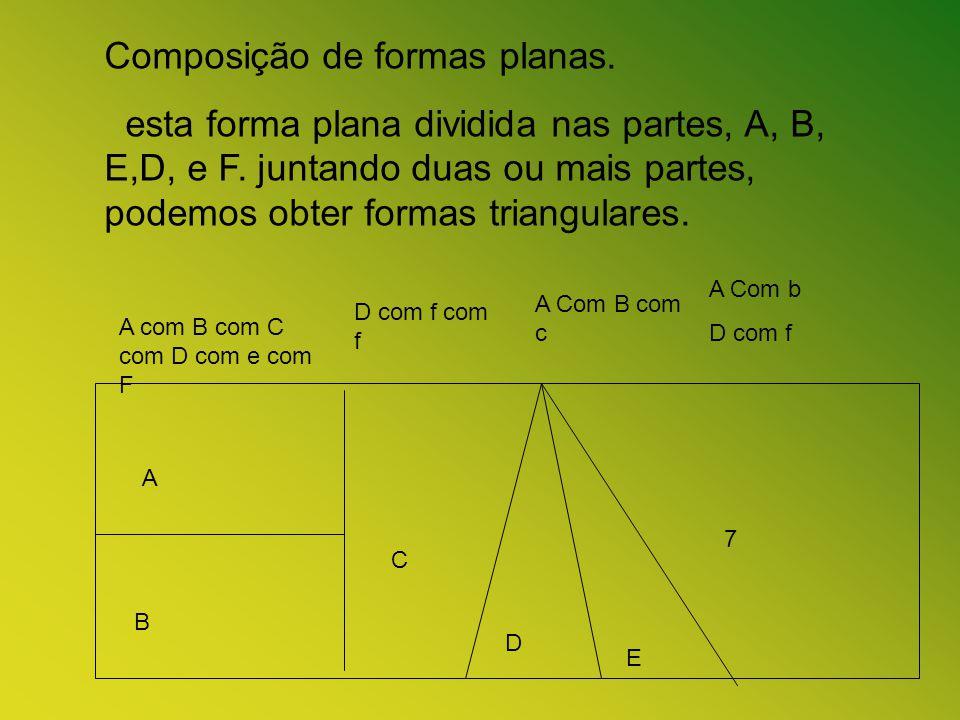 Composição de formas planas.