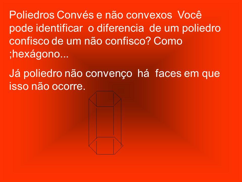 Poliedros Convés e não convexos Você pode identificar o diferencia de um poliedro confisco de um não confisco Como ;hexágono...