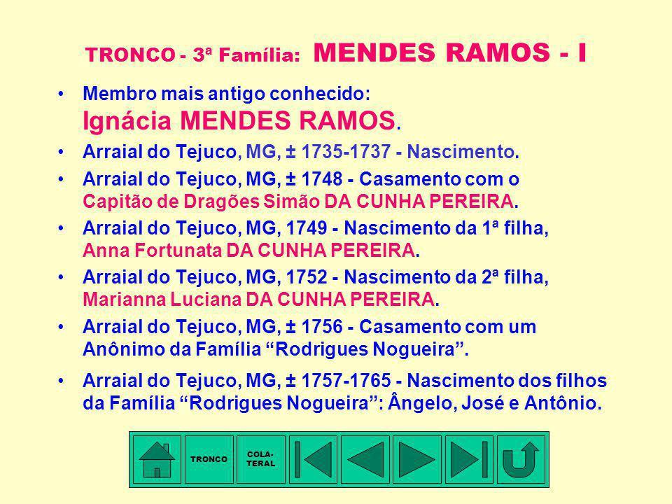 TRONCO - 3ª Família: MENDES RAMOS - I