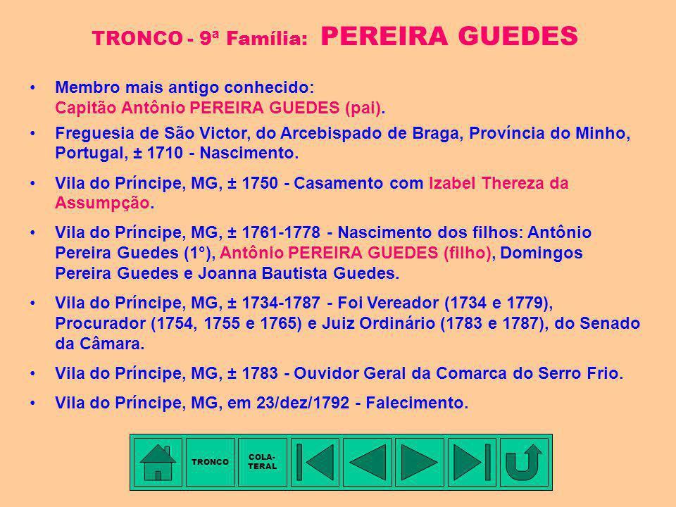 TRONCO - 9ª Família: PEREIRA GUEDES