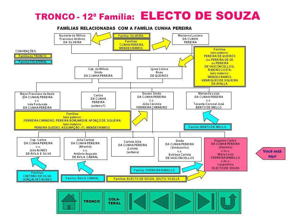 TRONCO - 12ª Família: ELECTO DE SOUZA