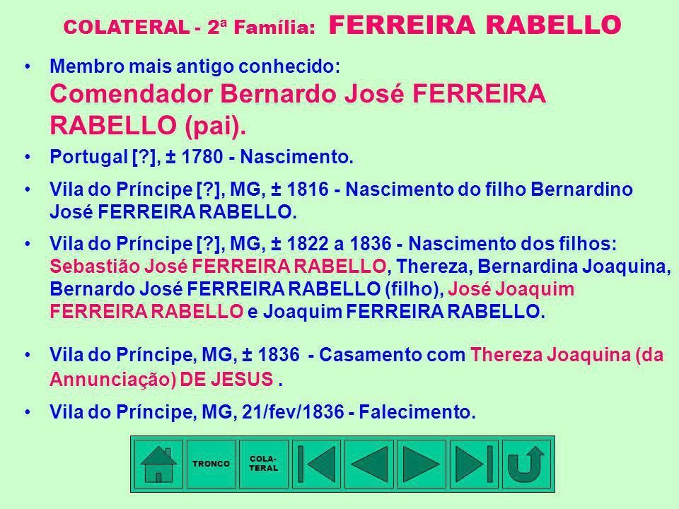 COLATERAL - 2ª Família: FERREIRA RABELLO