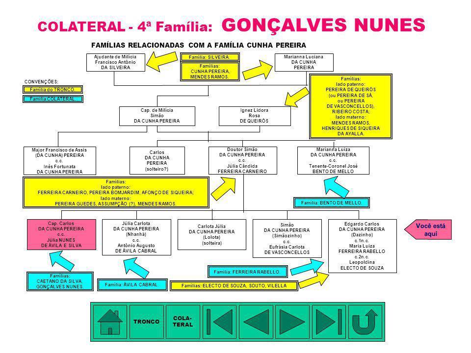COLATERAL - 4ª Família: GONÇALVES NUNES