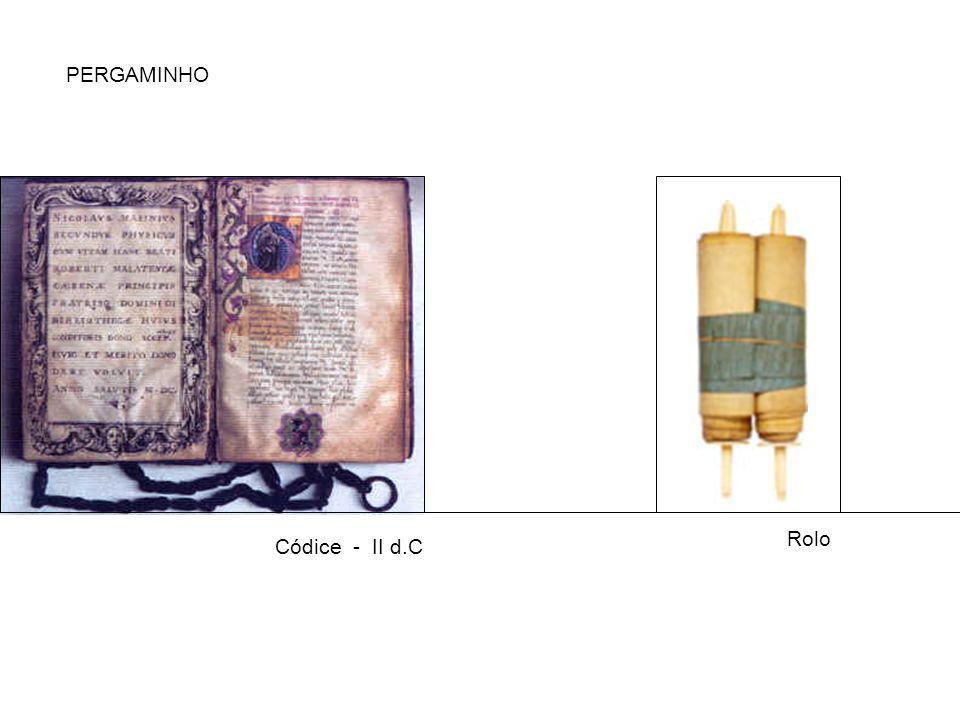 PERGAMINHO Rolo Códice - II d.C