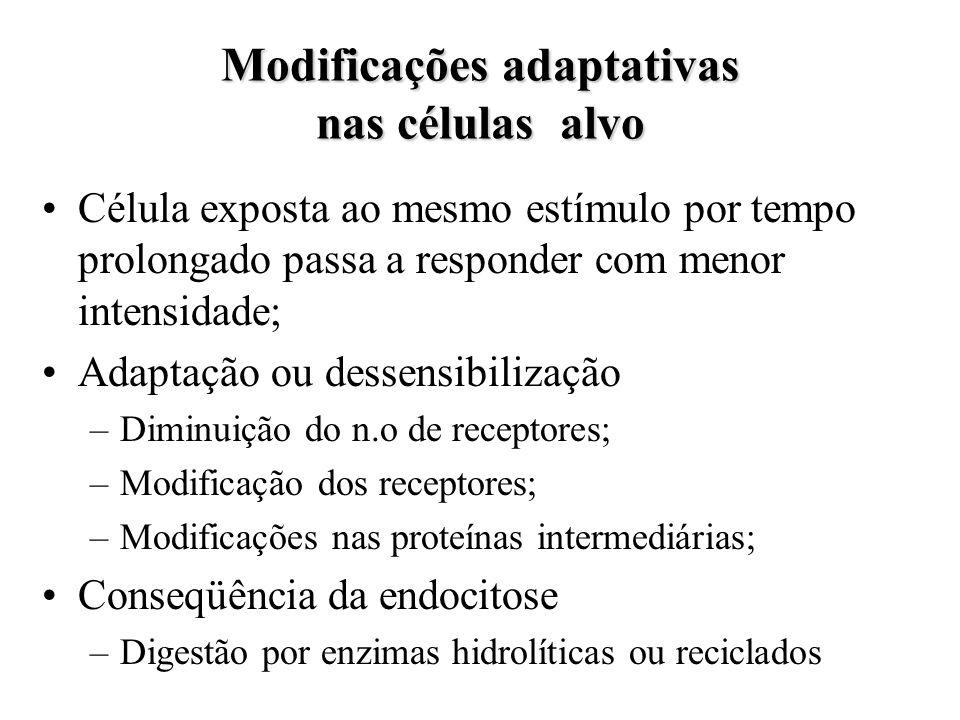 Modificações adaptativas nas células alvo