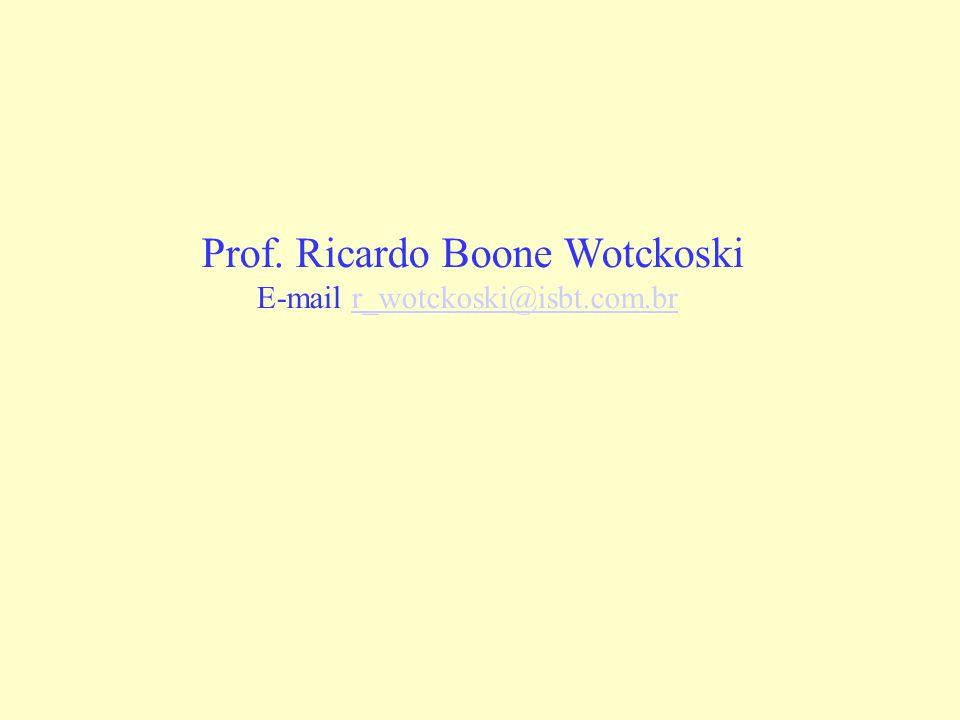 Prof. Ricardo Boone Wotckoski