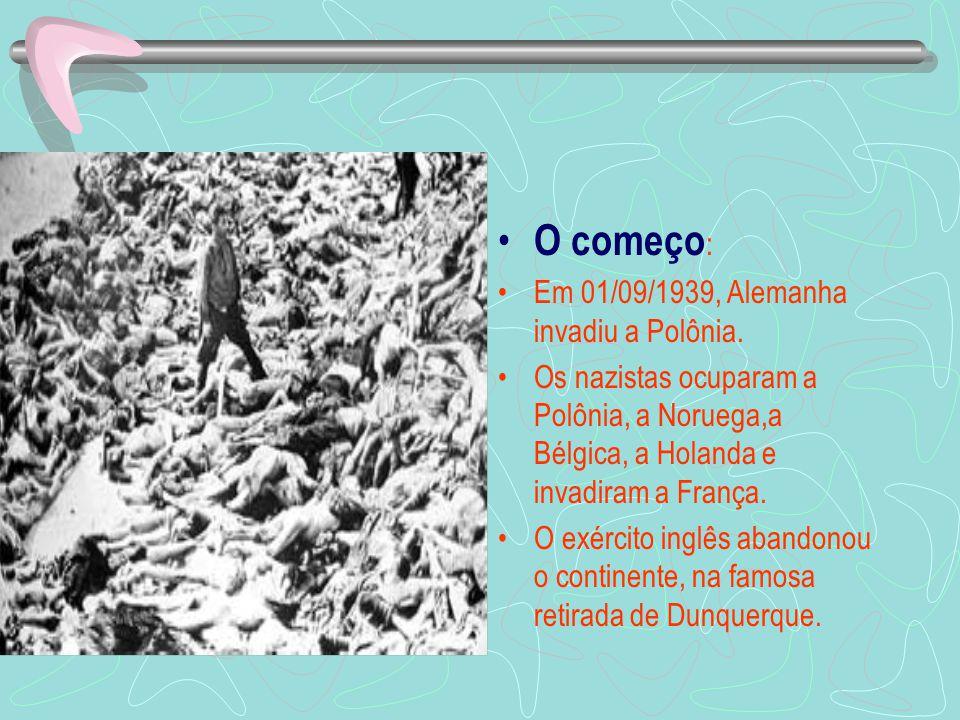 O começo: Em 01/09/1939, Alemanha invadiu a Polônia.