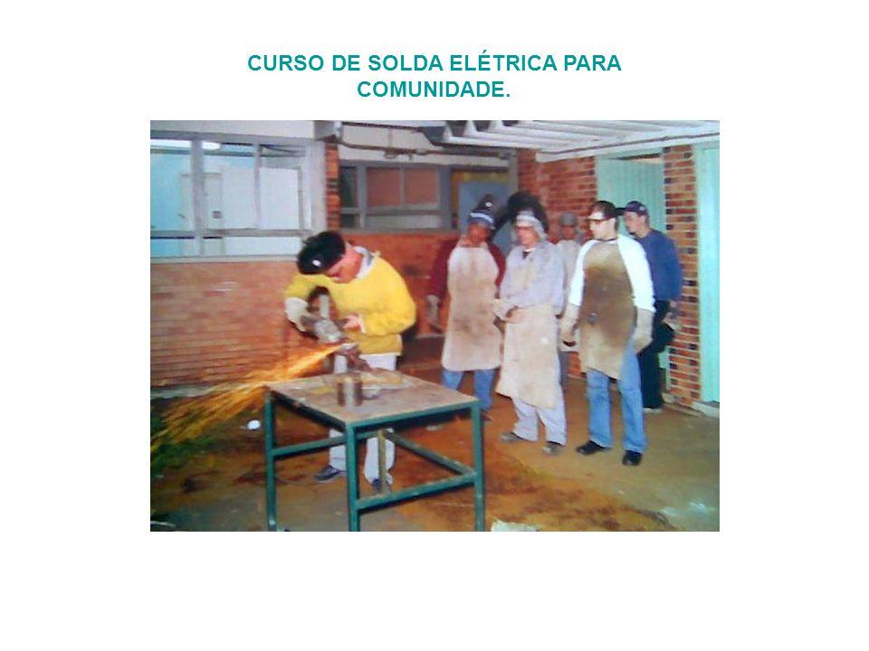 CURSO DE SOLDA ELÉTRICA PARA COMUNIDADE.