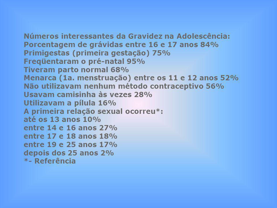 Números interessantes da Gravidez na Adolescência: