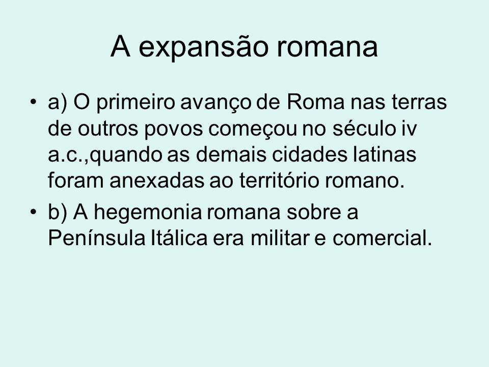 A expansão romana