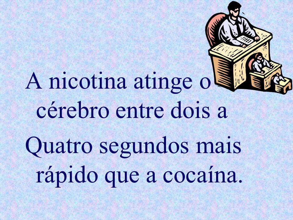 A nicotina atinge o cérebro entre dois a