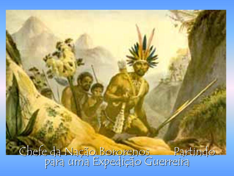 Chefe da Nação Bororenos Partindo para uma Expedição Guerreira