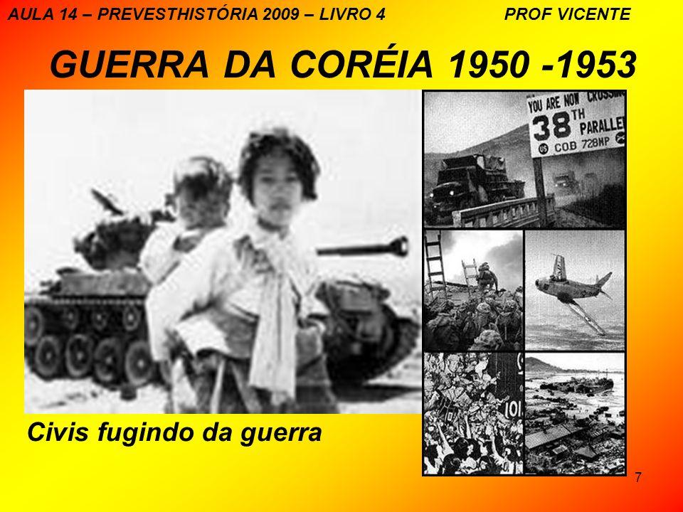 GUERRA DA CORÉIA 1950 -1953 Civis fugindo da guerra
