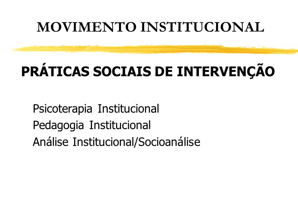MOVIMENTO INSTITUCIONAL