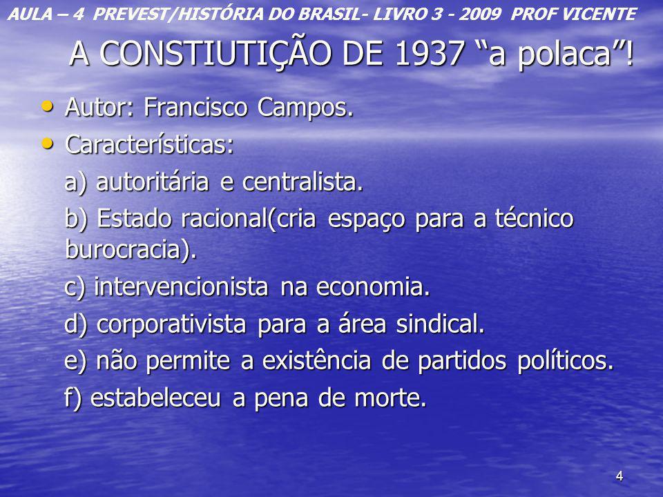 A CONSTIUTIÇÃO DE 1937 a polaca !