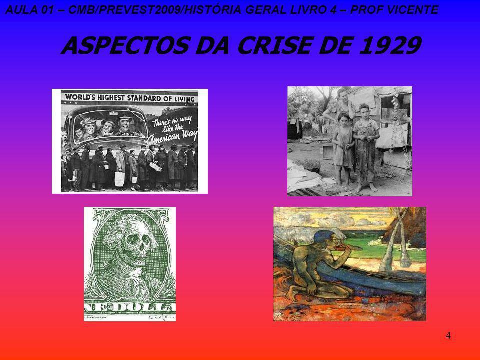 AULA 01 – CMB/PREVEST2009/HISTÓRIA GERAL LIVRO 4 – PROF VICENTE