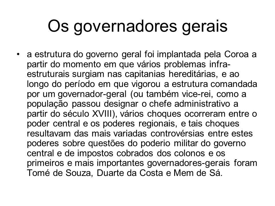 Os governadores gerais