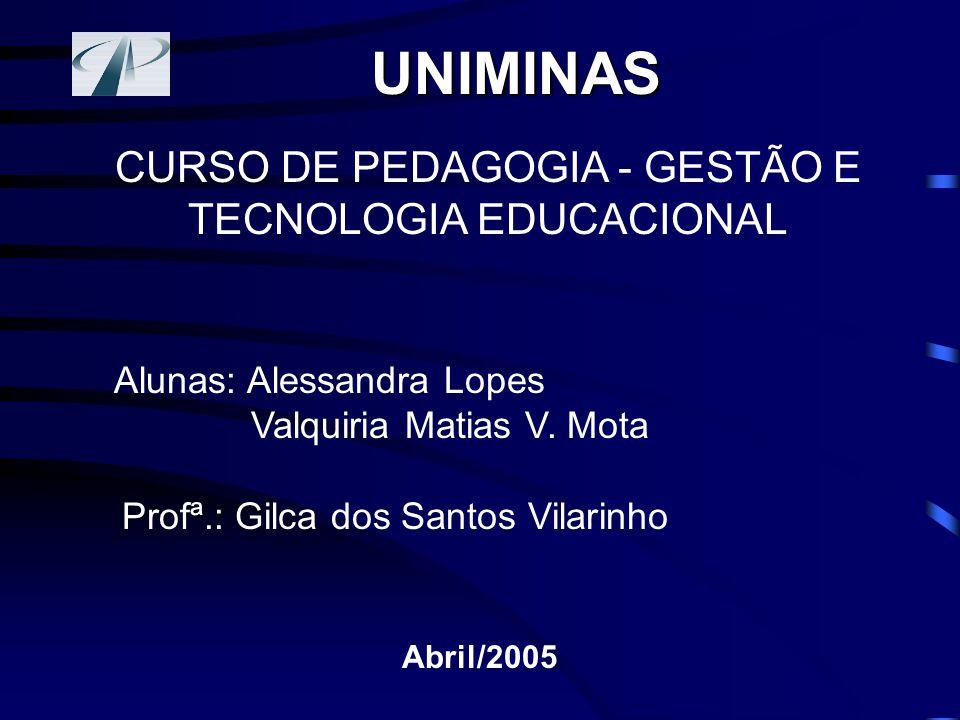 CURSO DE PEDAGOGIA - GESTÃO E TECNOLOGIA EDUCACIONAL
