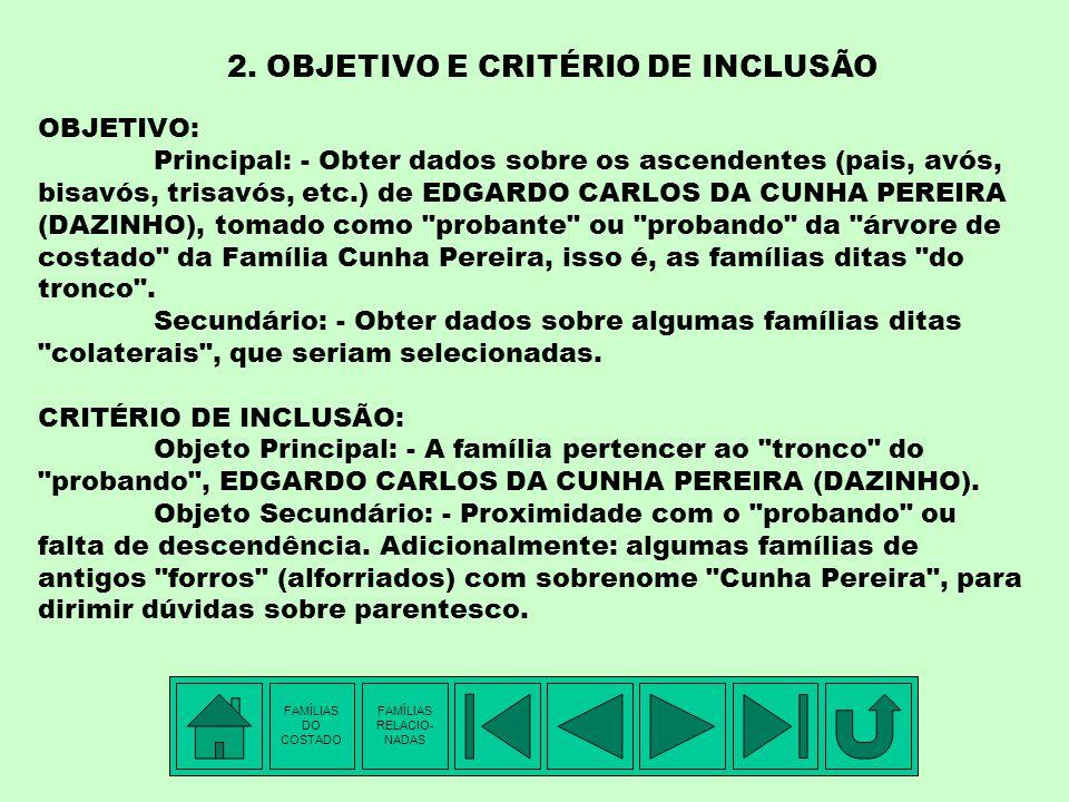 2. OBJETIVO E CRITÉRIO DE INCLUSÃO
