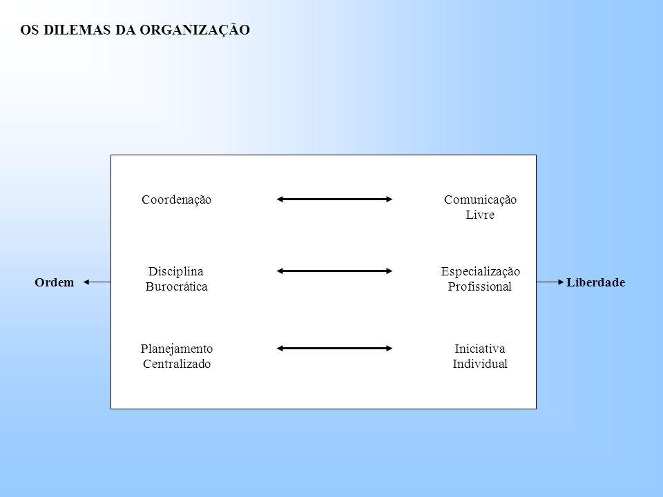 OS DILEMAS DA ORGANIZAÇÃO