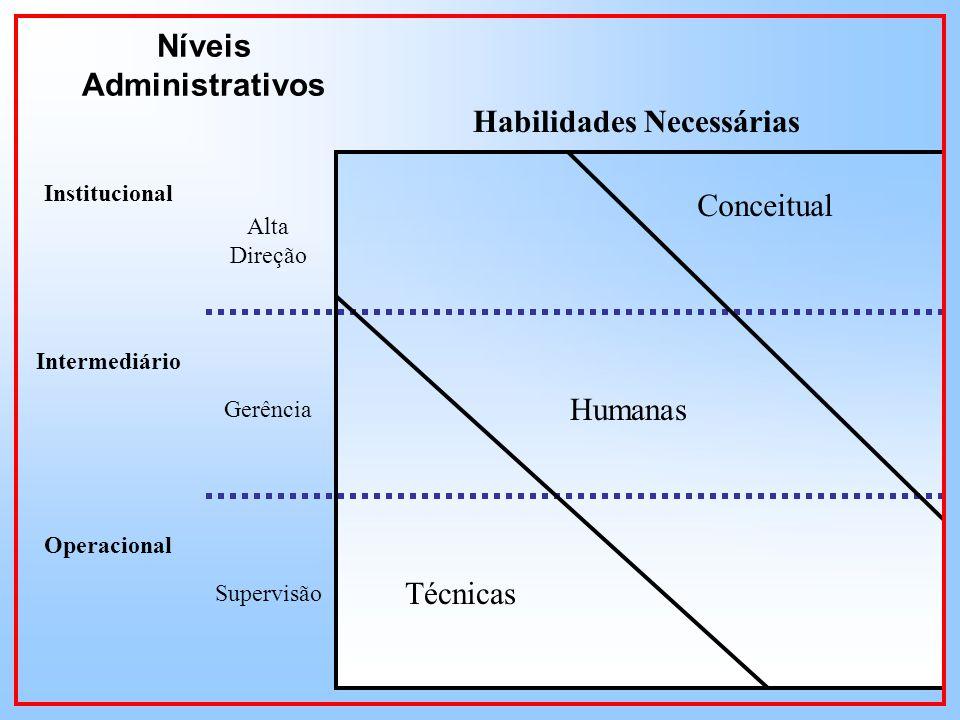 Níveis Administrativos Habilidades Necessárias