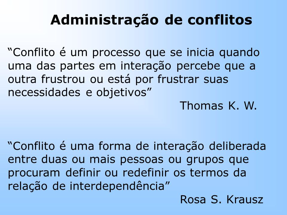 Administração de conflitos