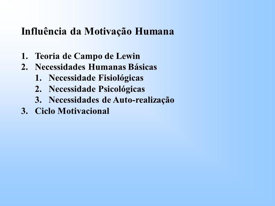 Influência da Motivação Humana