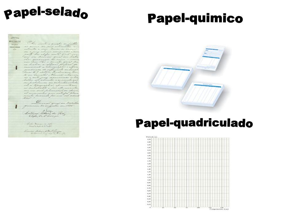 Papel-selado Papel-quimico Papel-quadriculado