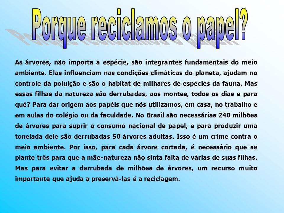 Porque reciclamos o papel