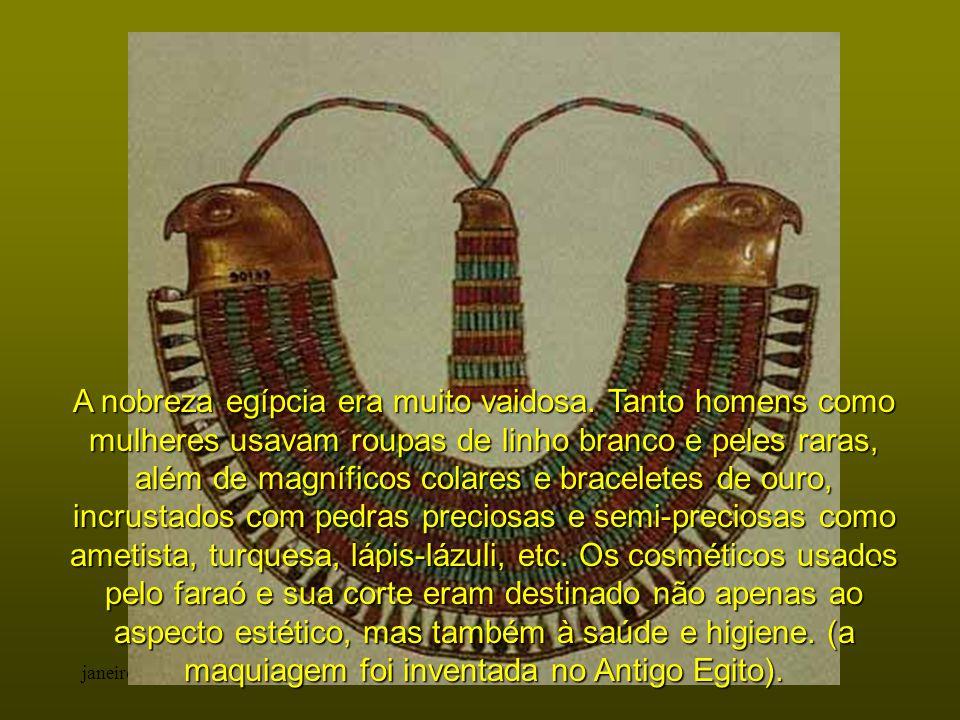 A nobreza egípcia era muito vaidosa
